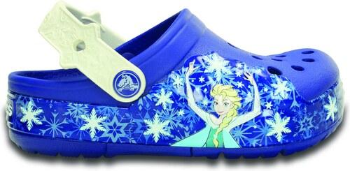 b5178443005 Dětské pantofle Crocs CrocsLights Frozen Clog K-Cerulean Blue Oyster bílá