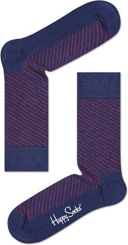 67906f48329 -30% Modré ponožky Happy Socks se šikmými červenými proužky - M-L (41-46) -