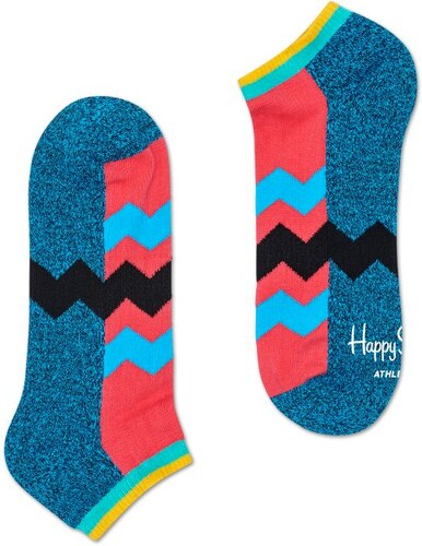 Nízké barevné ponožky Happy Socks se zubatými pruhy c2b5b17b93