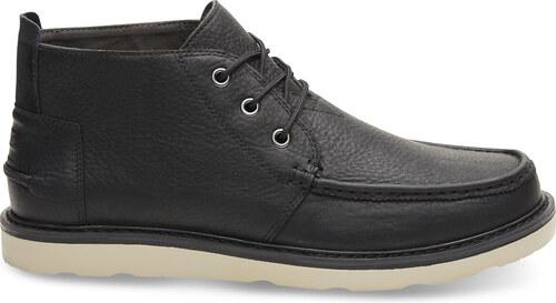 -50% TOMS CHUKKA-Black Pull Up Leather MEN 11 44 - vel.44 f03e5c0da4