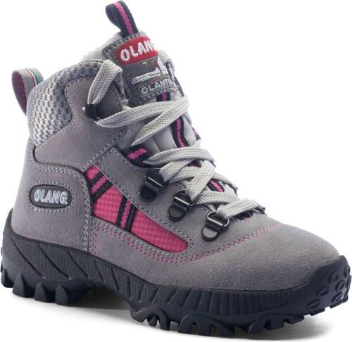 Dívčí kotníková treková obuv Olang Cortina kid.Tex šedá - Glami.cz 29b9da3435