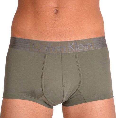 6a777bd88 Pánské boxerky Calvin Klein iron strenght micro khaki - Glami.sk