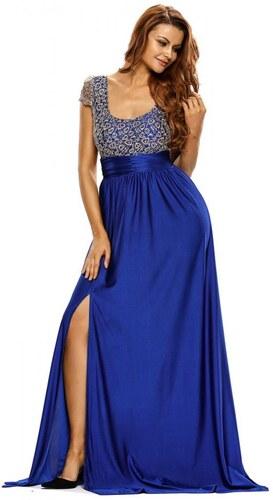 ZAZZA Dlhé spoločenské šaty s modrou sukňou - Glami.sk 0f72cc4d674