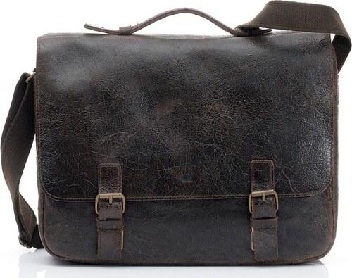 8ee0631265 DAAG Kožená hnedá taška cez rameno (dg3b) - Glami.sk