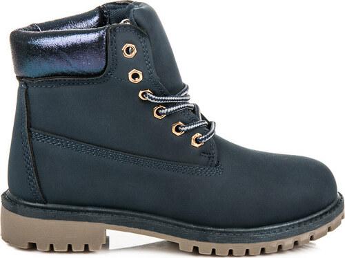 c61dc95472ee BASIC Dievčenské modré WORKERY - 59-031BL - Glami.sk