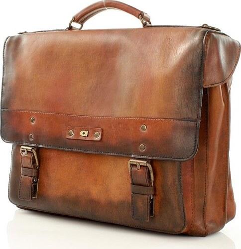 f44547f737 DAAG Pánska hnedá kožená taška na notebook ALIVE 9 (dg46a) - Glami.sk