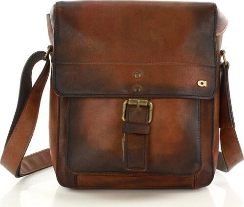 97705988be DAAG Pánska kožená hnedá taška cez rameno ALIVE 14 (dg48a) - Glami.sk