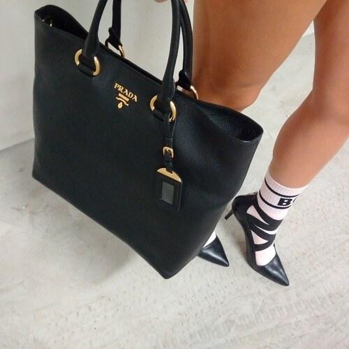 0e2c0b1255 Kabelka shopping bag PRADA Vidello Diano leather nero - Glami.cz