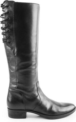 Geox - Dámské kožené kozačky pod kolena pro normální a silnější lýtko (XL)  MENDI e48638632a