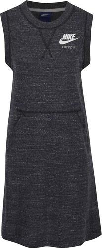 Černé dámské žíhané sportovní šaty bez rukávů Nike - Glami.cz 7ffce76d18