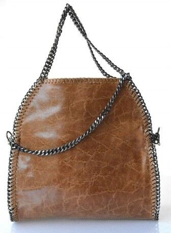 Kožená luxusná hnedá kabelka cez rameno brigite VERA PELLE - Glami.sk 19c3c488a10