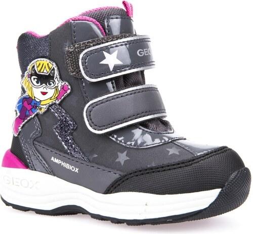 Geox Dívčí svítící zimní boty New Gulp - šedé - Glami.cz 4aafb2ab0d