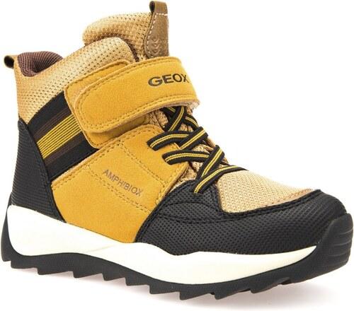Geox Chlapecké zimní boty Orizont - žluto-hnědé - Glami.cz 55e3c22c4f