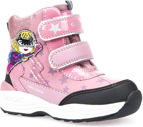 c803f512b69 Geox Dívčí svítící zimní boty New Gulp - růžové - Glami.cz