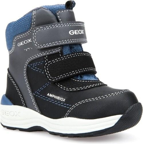 Geox Chlapčenské zimné topánky New Gulp - šedo-čierne - Glami.sk 2f00c99dba3