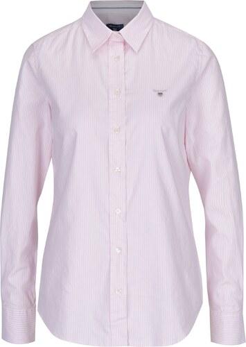 3fa8b07f220 Bílo-růžová dámská pruhovaná košile GANT - Glami.cz