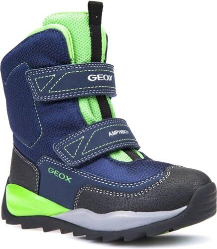 Geox Chlapčenské zimné topánky Orizont - modro-zelené - Glami.sk 75740a00b88