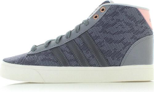 adidas CORE Dámské tmavě šedé kotníkové tenisky ADIDAS Cloudfoam Daily QT  Mid 675ec3ce26