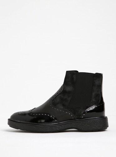 6aa479502145 Čierne dámske kožené chelsea topánky Geox Prestyn D - Glami.sk