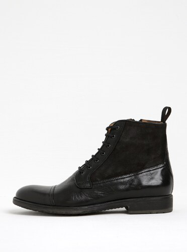251010d0d3ca Čierne pánske kožené členkové topánky Geox Jaylon B - Glami.sk