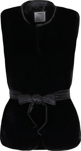 Čierna dámska funkčná páperová vesta s umelou kožušinou Geox - Glami.sk c7d26a93f82