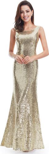 Ever Pretty plesové šaty zlaté 7110 - Glami.cz e9be8cc6dd0