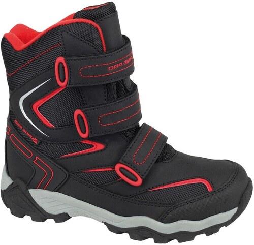88fd2686fb12 ALPINE PRO Detské vysoké zimné topánky Dairo - čierno-červené - Glami.sk