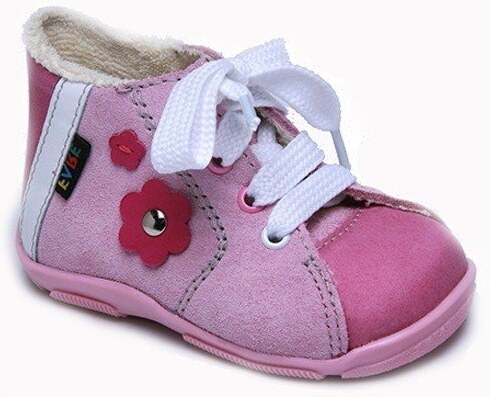 Fare Dívčí zateplené kotníkové tenisky s kytičkou - růžové - Glami.cz 3d4be6870a