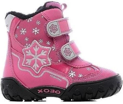 Geox Dievčenské zateplené členkové topánky B Gulp B Girl Abx - ružové 8e94ca291da