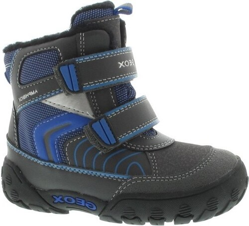 Geox Chlapecké zateplené kotníkové boty B Gulp B Boy Abx - šedo-modré 16e7054204