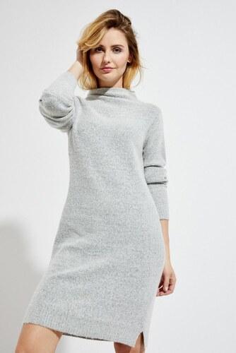 Moodo šaty dámské pletené s rolákem a dlouhým rukávem - Glami.cz b9d49ccd4d