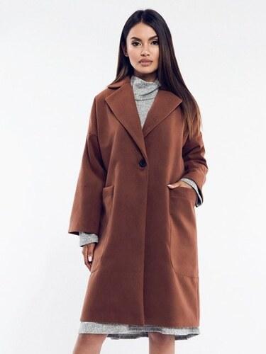 Rita Koss Dámsky kabát RK63 BROWN - Glami.sk 0fcae7198d2