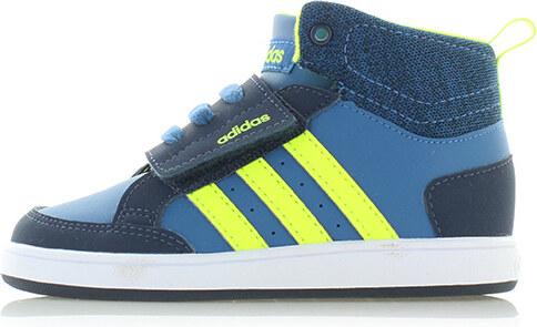 adidas NEO Dětské modré kotníkové tenisky ADIDAS Hoops CMF Mid ... dbcc874198