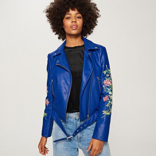 Reserved - Hímzett virágos kabát - Kék - Glami.hu caee3555fe