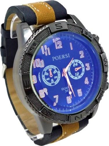 Pánské hodinky Poersi Luxury modré 165ZP - Glami.cz 04795be1f1