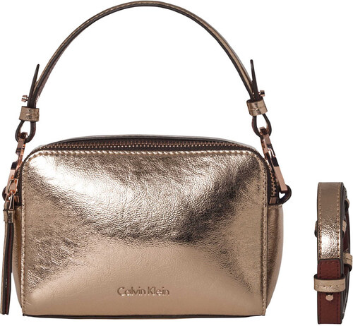 a7635f7ff46 Calvin Klein Kabelka Lizzy Small Leather Crossbody (Gold Rose ...