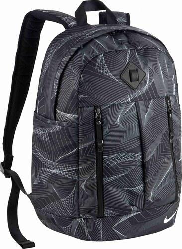 00d49748181 Dámský batoh Nike W NK AURA BKPK - AOP BLACK BLACK WHITE - Glami.cz