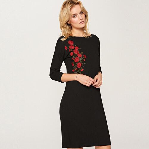 b6fa95745e Reserved - Hímzett virágmintás ruha - Fekete - Glami.hu