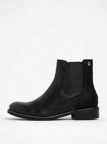 e874f0afac Čierne dámske kožené chelsea topánky Tommy Hilfiger - Glami.sk