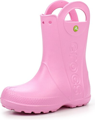 edca79444d6 -5% -20% Crocs světle růžové dětské holínky Handle It Rain Boot Kids  Carnation - C7