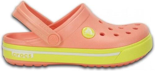 ... Crocs lososové dětské boty Crocband II.5 Clog Kids Melon Chartreuse -  C6  b9cb88a4fc