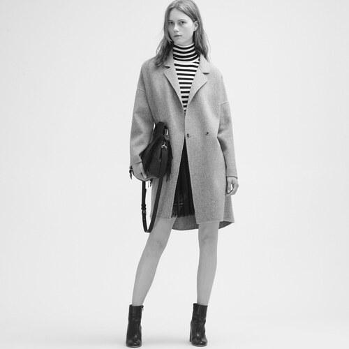 Maje manteau gris chine