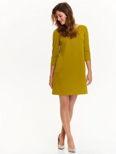 Top Secret šaty dámské žluté na zip s 3 4 rukávem poslední kus ... b1112bf770f
