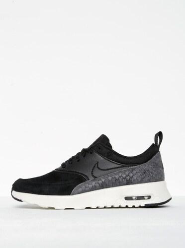Černé dámské semišové tenisky se strukturovanými detaily Nike Air ... 691cb38077