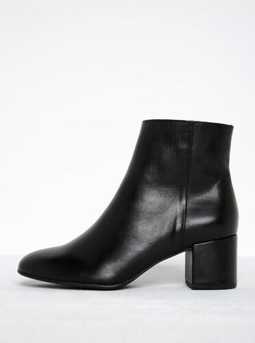 b81c88aabd Čierne kožené členkové topánky na podpätku Högl - Glami.sk