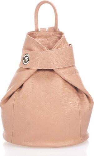 74700162a14e Růžovobéžový kožený batoh Lisa Minardi Narni - Glami.cz