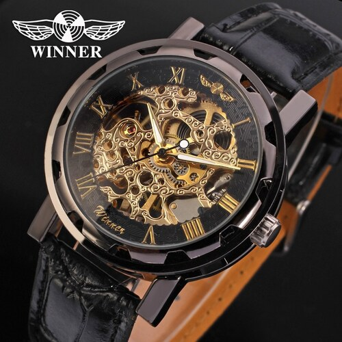 34f8a8961fa Pánské mechanické hodinky Winner JS11 - Glami.cz
