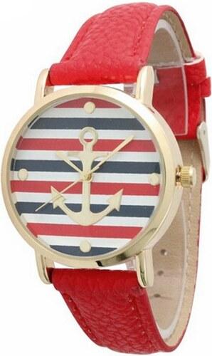 9ce7101f3d3 Shim Watch Dámské hodinky s kotvou červené - Glami.cz