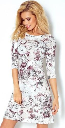 NUMOCO Bílé šaty s květy 88-13 - Glami.cz aee08a411d
