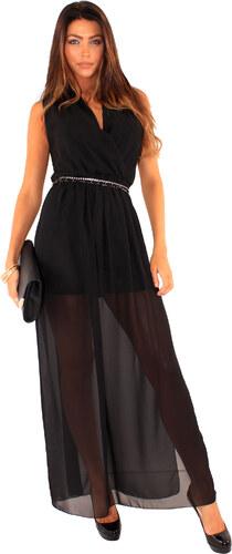 Fashion-book Dlouhé šaty Spotlight s průsvitnou sukní - Glami.cz c8be35663ec